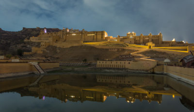 Amer fort in the night