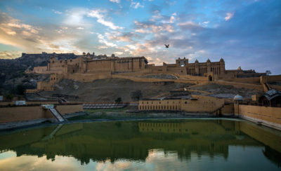 Amer fort in the evening