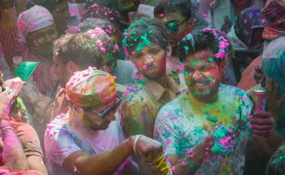 Holi celebration in Mathura