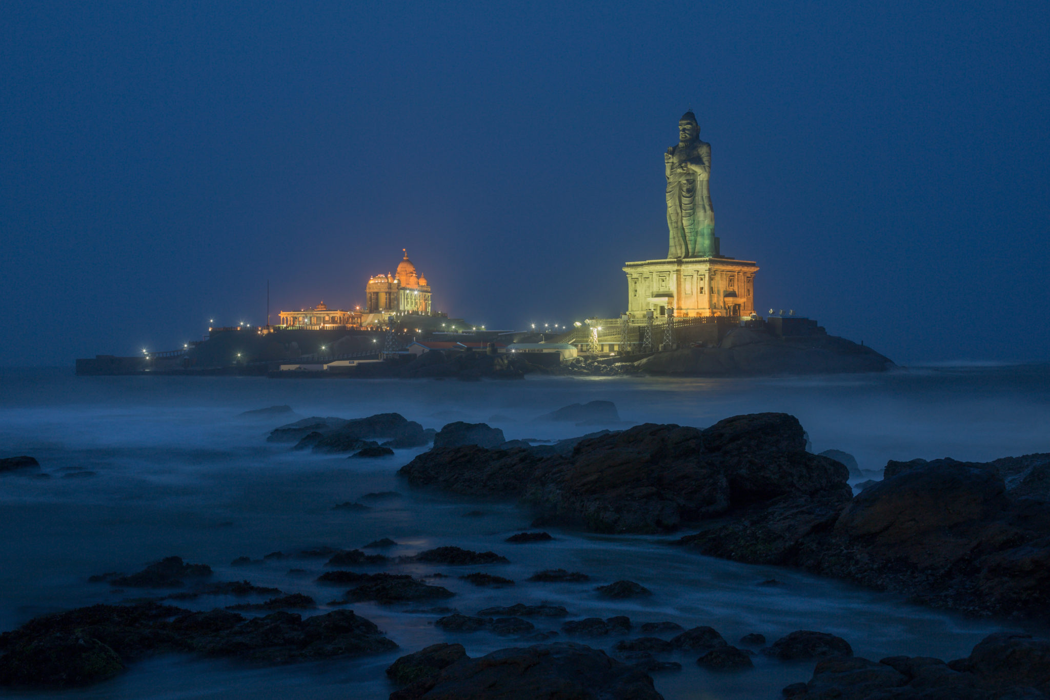 Kanyakumari in the night