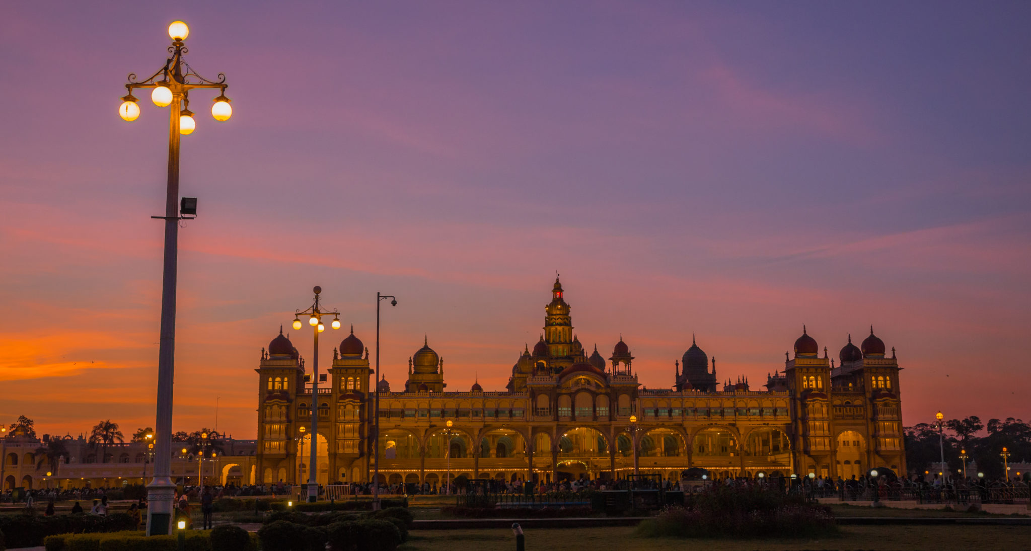 Mysore Palace at dusk